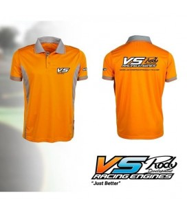POLO VS ORANGE/GREY SIZE:L