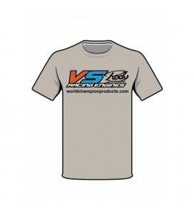 T-SHIRT VS RACING ENGINES GREY L