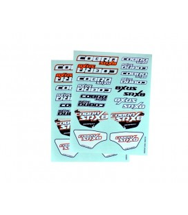 DECAL SHEET SERPENT SRX8 (2U)
