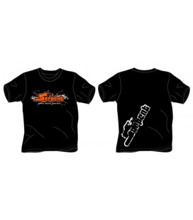T-SHIRT SERPENT SPLASH BLACK (S)