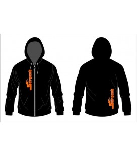 HOODY SWEATER SERPENT BLACK ZIP (L)