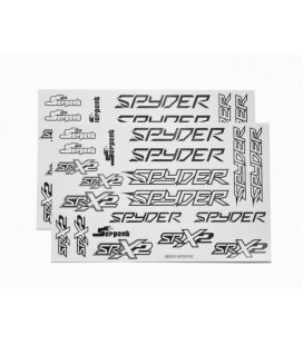 DECAL SHEET SPYDER BLACK/WHITE (2U)