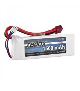 REDOX LIPO 1500MAH 7,4V 20C DEAN