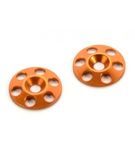 HUDY ALU REAR WING SHIM-ORANGE (2U)