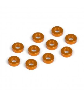 ALU SHIM 3x6x2.0MM ORANGE (10U)