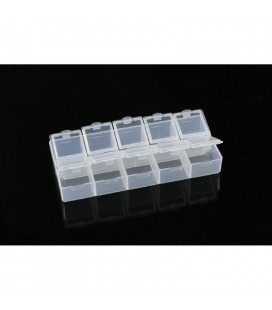 10-COMPARTMENT PARTS BOX (132x58x20MM)