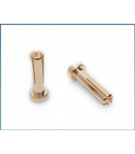 LRP 4MM GOLD WORKS TEAM CONNECTORS (10U)