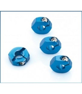 LRP ALUMINIUM WHEEL-ADAPTER BLUE (4U)
