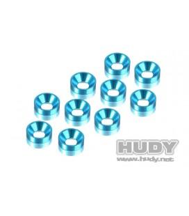 HUDY ALU COUNTERSUNK SHIM BLUE (10U)