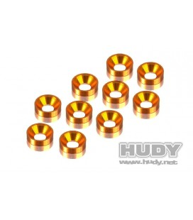HUDY ALU COUNTERSUNK SHIM ORANGE (10U)