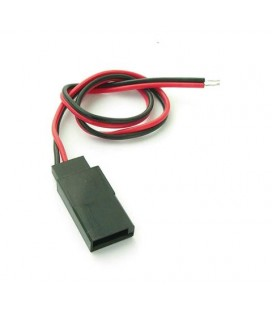 BATTERY LEADS 2 PIN FUTABA FEMALE 20CM