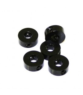 STOPPERS ALU. 4MM BLACK (5) ULTIMATE