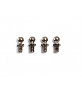 ALU BALL END 4.3x10mm (4 pcs)