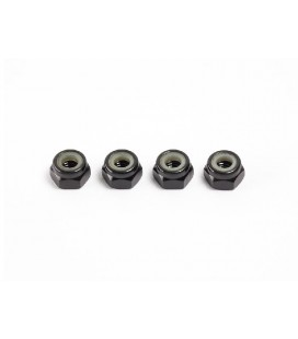 M4 NYLON NUT (Black / 4 pcs)