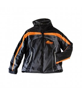 WINTER JACKET SERPENT BLACK-ORANGE (L)