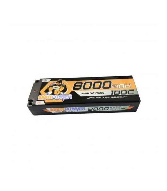 BRUTEPOWER LIPO 2S 7.6V HV 8000MAH 100C