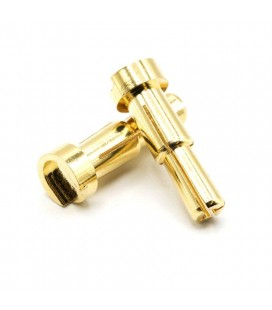 GOLD PLATED 4 & 5MM BULLET BANANA 14MM L