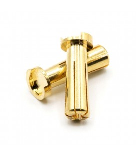 GOLD PLATED 5MM BULLET BANANA 18MM LONG