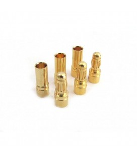 3.5MM BULLET PLUG GOLD CONNECTOR (3M+3F)