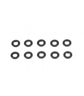 ALUMINIUM WASHER 3x6x0.5mm (Black/10pcs)
