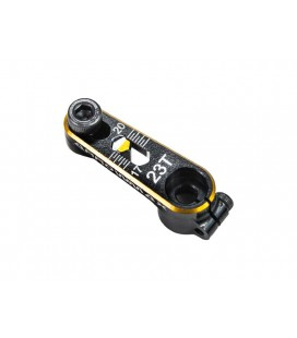 ARROWMAX ALU SERVO HORN 23T BLACK GOLDEN