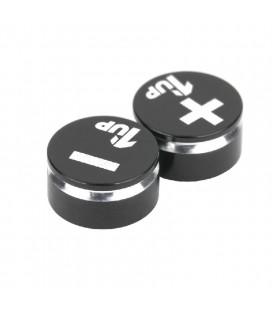 1UP LOWPRO BULLET PLUG GRIPS BLACK/BLACK