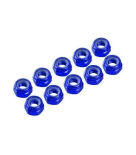 NUTS M4 NYLOC ALU. BLUE (10)