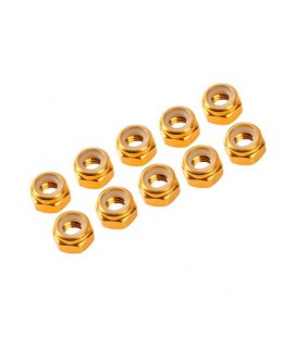 NUTS M4 NYLOC ALU. GOLD (10)