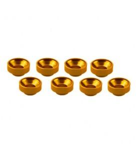 M3 ALUMINIUM SERVO WASHER GOLD (8 pcs)
