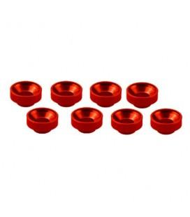 M3 ALUMINIUM SERVO WASHER RED (8 pcs)